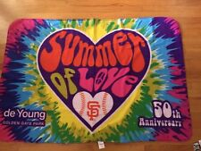 SF Giants 2017 50th Anniversary Summer of Love Blanket SGA 6/25 not bobblehead