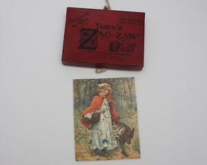 Vintage Tuck's Zag-Zaw Jigsaw puzzle Littlr Red Riding Hood (EP165)
