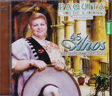 Paquita La del Barrio Con Mariachi 45 anos Cantandole a Los Inutiles CD New Nuev
