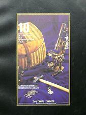 TIMBRES DU CANADA : 1992 CARNET DE 10 TIMBRES SUR LE THEME DES MINERAUX ** TBE