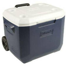 Coleman Ice Chest Cooler 50-Quart 5-Day Heavy-Duty With Wheels MULTICOLOR New