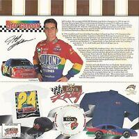 "1997 JEFF GORDON ""EYD'S ICE CREAM RACING HENDRICK"" #24 NASCAR WIN CUP POSTCARD"