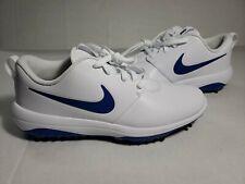 Nike Roshe G Tour Golf Shoes White Indigo Blue Rory Size 9 ( AR5580-101 ) NEW