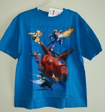 NWT Disney Big Hero 6 Boys SIZE 7 Short Sleeve T-Shirt BLUE Powers TEE    120815