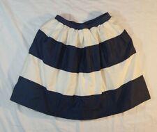 Crewcuts Girls Cream And Navy Blue Striped Skirt Sz 10