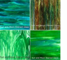Wissmach Stained Glass Sheet Pack - 4 Sheets of GREEN (8X10) - FAST SHIPPING!