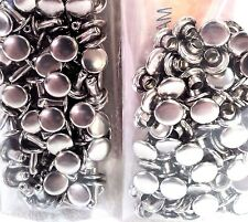 100 Pack of Nickel Plate SMALL DOUBLE CAP RIVETS 1371-12 Tandy Leather Rivet