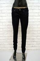 DONDUP Donna Jeans Nero Denim Taglia Size 29  Pantalone Cotone Pants Black