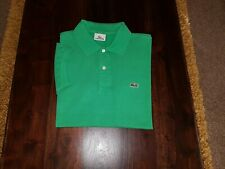 Men's Lacoste Polo Shirt, Devanlay, Size 4 Medium, Green, S/S