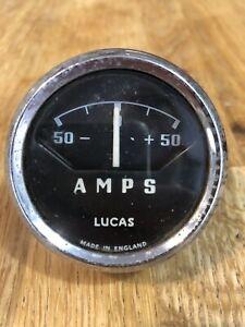 LUCAS AMPS Gauge/Meter/Vintage/Retro/Classic Car/Motorbike/Parts