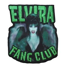 "Horror Fan ""Elvira: Fang Club"" Patch Late-Night Movie Macabre Iron-On Applique"
