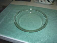 """Vintage PYREX 9"""" Pie Plate Dish 209 Clear Glass Smooth"""