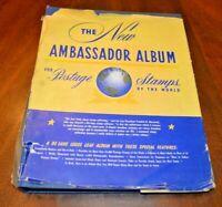CatalinaStamps: Ambassador Album 1952 H.E. Harris w/440 Stamps, Lot D18