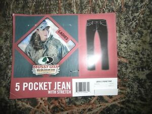 Mossy Oak Brush Camo - You Choose Ladies 5 Pocket Pant Jeans w/ Stretch Hunting