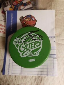 Connor McDavid Autographed Signed Erie Otters Puck auto oilers