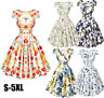50S 60S ROCKABILLY Women Vintage Floral Swing Pinup Retro Housewife Party Dress