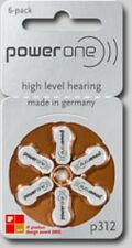 120 Size 312 Power One Hearing Aids/Aid Batteries