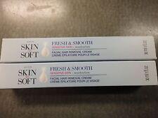 AVON 2 Facial hair removal cream sensitive skin with ALOE fragrance free SSS NIB