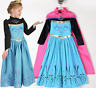 GIRLS CORONATION COSPLAY FROZEN ELSA PRINCESS COSTUME PARTY FANCY DRESS + CAPE