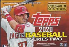 2020 Topps Series 2 Baseball sealed blaster box 7 packs 14 MLB cards & Medallion