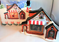 Holiday Style Lighted Toy Shop Christmas Village