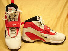 Nike Zoom Air Size 18 With Cleats Red White Leather Men Shoe In Excellent Cond