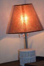 LAMPE DE CHEVET MARRON  BUREAU  DECO LOFT DESIGN SHABBY