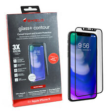 NEW ZAGG Curved Glass Scratch Protection Full Screen Protector For iPhone X/XS