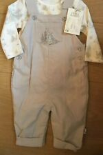 Mothercare Peter Rabbit Cord Dungarees & Bodysuit Set Age Up To 1 Months Bnwt 🐰