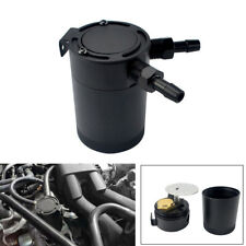 "Car 2-Port Baffled Aluminum 400ml Oil Catch Can Tank Air Oil Separator 3/8"" NPT"