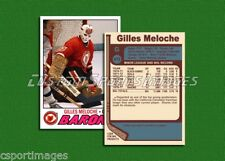 Gilles Meloche - Cleveland Barons - Custom Hockey Card  - 1976-77