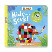 Elmer: Hide and Seek! by McKee, David, NEW Book, (Board book) FREE & Fast Delive