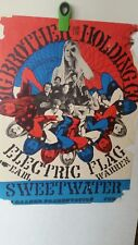 vintage rock concert poster original big brother and the holding company 1960s