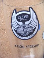 105 Years Harley Davidson Motorcycles Official Sponsor Miller Lite pint glass