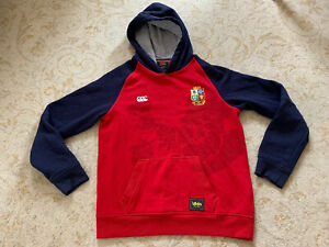 British and Irish Lions Rugby Hoodie Size Age 14 Childrens Kids Boys Girls