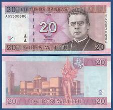 LITAUEN / LITHUANIA 20 Litu 2007 UNC  P.69