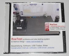 CD-ROM roetest Professional Tube Testing système, tubes Testeur, tube Testeur