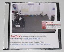 CD-Rom  RoeTest professional tube testing system, Röhrenprüfgerät, tube tester