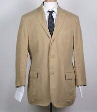 Polo by Ralph Lauren Men's Medium 40R Jacket Blazer Tan Linen Italy corneliani