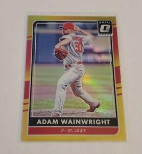 R56,613 - 2016 Donruss Optic #102 Gold Adam Wainwright #7/10 Cardinals