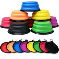 Foldable Travel Silicone Dog Bowl Food Water Feeding Portable Dish for Pets Cat