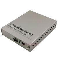 Fast Ethernet Media Converter Fiber Transceiver 10/100/1000M SFP SM/MM LC