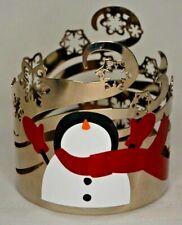 Bath & Body Works Snowman Snowflakes Winter Swirl 3 Wick Candle Sleeve Holder