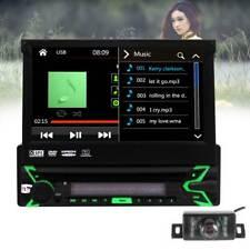 Backup Camera GPS 7 Inch Single 1 DIN Car Radio CD DVD Player Bluetooth Stereo