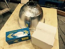 400W METAL HALIDE HIGH BAY FITTING COMPETE WITH SHADE AND LAMP