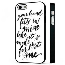 1D Lyrics Little Things BLACK PHONE CASE COVER fits iPHONE