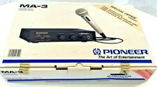 Pioneer MA-3 Karaoke Mixer Original Box DM-21A Microphone Made In Japan NOS NEW