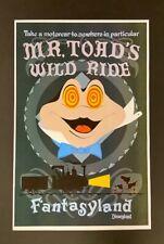 Disney Disneyland Mr Toad's Wild Ride Attraction Poster Print 11x17
