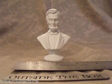"Abraham Lincoln -  Mini Bust / Statue : NEW IN BOX  3"" High / WHITE"