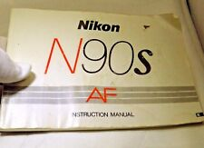Nikon N90S AF  camera Manual Guide Instructions EN English F90X